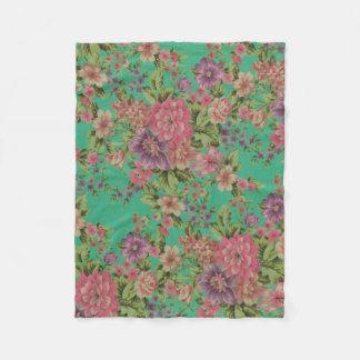 Rosen-Fleecedecke der bunten Blume dekorative Fleecedecke
