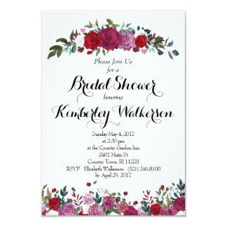 Rosen-Garten-Brautparty-Einladung 8,9 X 12,7 Cm Einladungskarte