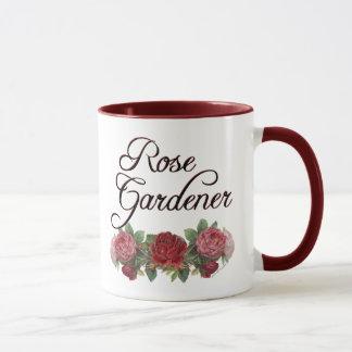 Rosen-Gärtner-Sprichwort mit Rosen Tasse