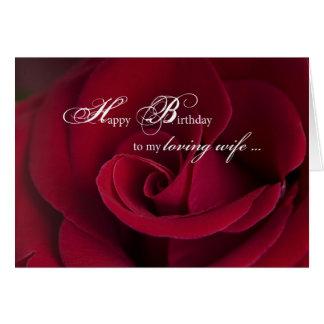 Rosen-Geburtstags-Karte für liebevolle Ehefrau Karte