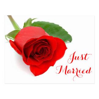 Rosen-gerade verheiratete postkarte