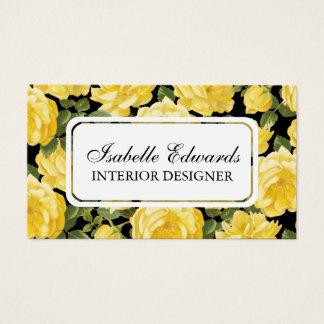 Rosen-Geschäftskarte des Blumenmusters elegent Visitenkarte