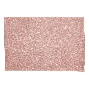 Rosen-Gold - erröten rosa Glitzer und funkeln Kissenbezug