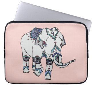 Rosen-Gold verschönerte Elefant-Laptophülse Laptop Sleeve