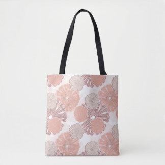 Rosen-GoldBlumen-Muster Tasche