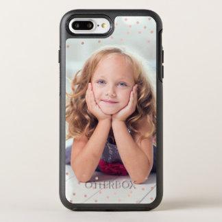 Rosen-GoldConfetti u. Gewohnheits-Foto OtterBox Symmetry iPhone 7 Plus Hülle