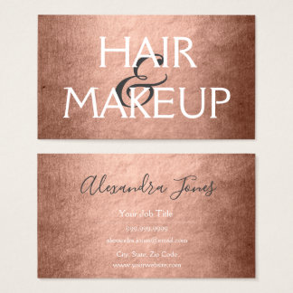 Rosen-Goldfolien-Haar u. Make-up Visitenkarte