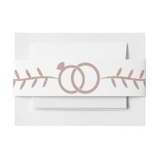Rosen-GoldGlitzer-modernes Hochzeits-Bauch-Band Einladungsbanderole