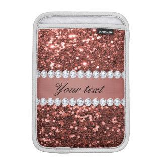 Rosen-GoldImitat-Glitter und Diamanten iPad Mini Sleeve