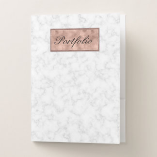 Rosen-Goldmarmor-weißer grauer eleganter Bewerbungsmappe