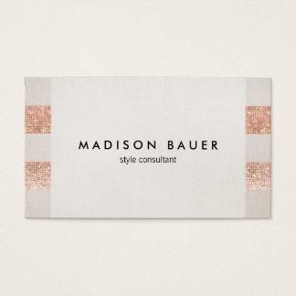 Rosen-Goldsequin-beige Visitenkarten