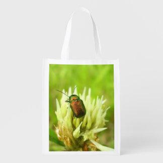 Rosen-Käfer-wiederverwendbare Tasche Wiederverwendbare Einkaufstasche