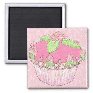 Rosen-Kuchen-Stand-Magnet Quadratischer Magnet