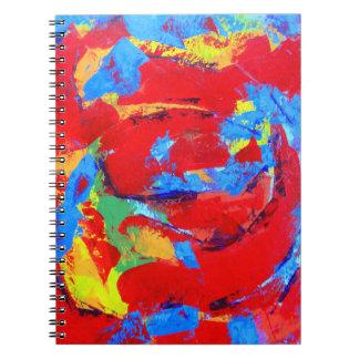 Rosen-Malerei-Notizbuch Notizblock