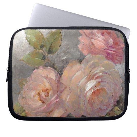Rosen mit Grau Laptop Computer Schutzhüllen