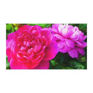 Rosen mit Morgentau Leinwanddruck