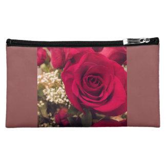 Rosen-mittlere kosmetische Tasche