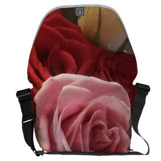 Rosen-naher hoher Druck-große Bote-Tasche Kurier Taschen