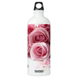 Rosen-rosa Blume Wasserflasche