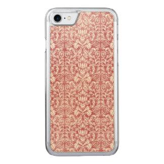 Rosen-rosa Blumendamast Carved iPhone 7 Hülle