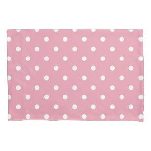 Rosen-rosa Polka-Punkt-Kissenbezug Kissenbezug