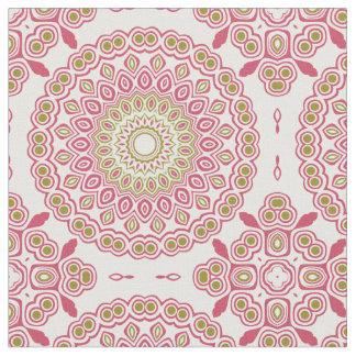 Rosen-rosa und olivgrünes Grün-kaleidoskopisches Stoff