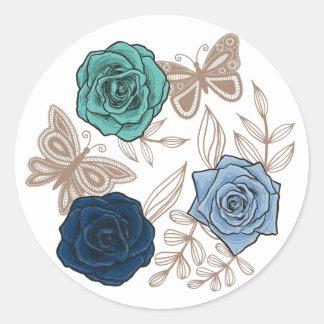 Rosen-runder Aufkleber