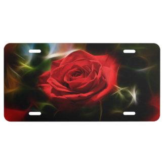 Rosen-Schönheit US Nummernschild