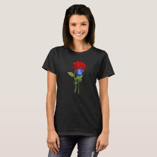 Rosen-Shirt des Blaus 2 T-Shirt