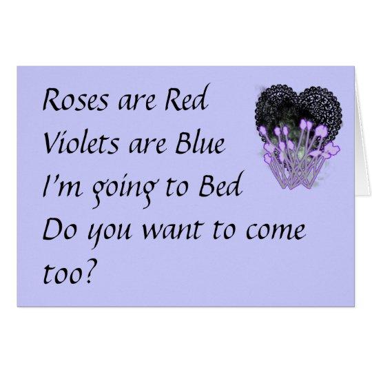 Rosen sind rote lustige Valentines Karte