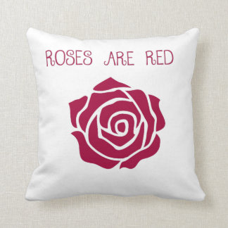 Rosen sind rotes Throw-Kissen Kissen