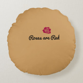 Rosen sind rotes Throw-Kissen Rundes Kissen