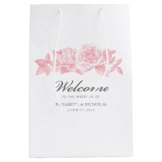 Rosen-Skizze-Geschenk-Tasche im Rosa Mittlere Geschenktüte