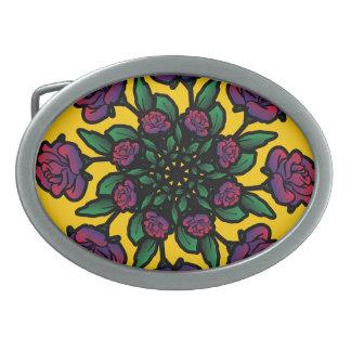 Rosen-Spirale Ovale Gürtelschnallen
