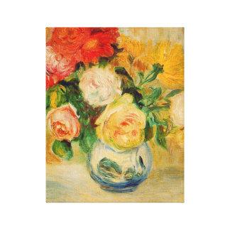 Rosen und Dahlien Renoir feine Kunst Leinwanddruck