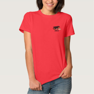 Rosen-und Diplom-Absolvent Besticktes T-Shirt