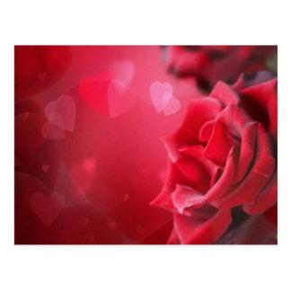 Rosen und Herzen Postkarte