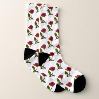 Rosen-und Stamm-Blumenphotographie-Muster Socken