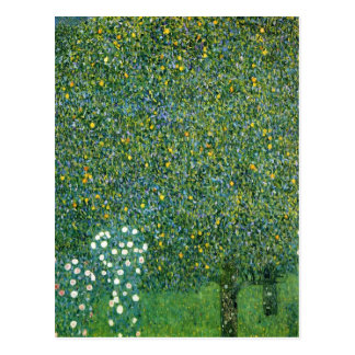 Rosen unter den Bäumen niedlich Postkarte
