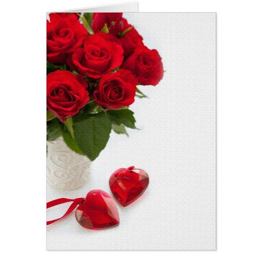 Rosen-Valentinstag Grußkarte