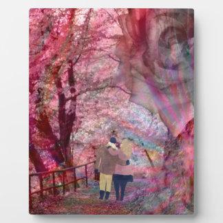 Rosen wachsen mit Liebe Fotoplatte