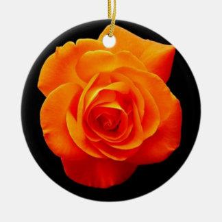 Rosen-Weihnachtsbaum-Verzierung Rundes Keramik Ornament