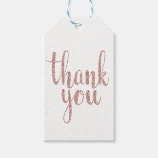 Rosengold danken Ihnen, Umbauten, den Glitter zu Geschenkanhänger