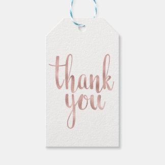 Rosengold danken Ihnen, Umbauten, die Folie zu Geschenkanhänger