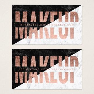 Rosengoldtypographiemarmor des Makes-up Block Visitenkarte