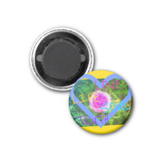 Rosenherz-Bestätigungsmagnet Runder Magnet 3,2 Cm