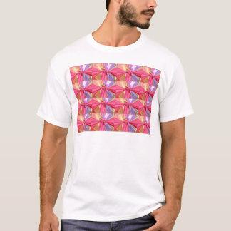 Rosenknospe Butterfy Muster T-Shirt