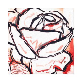 Rosenkunst - rote Pop-Pose-Leinwand - Leinwanddruck