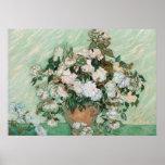 Roses, 1890 (huile sur la toile) affiche