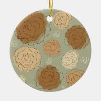 Roses Abstract Keramik Ornament